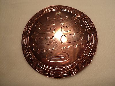 Northwest Coast First Nations Handcrafted Copper Pendant/brooch
