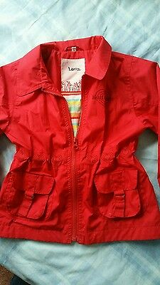 Twinkle red girl's jacket,age 4