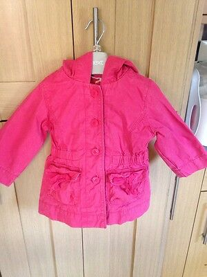 Gap Girls Pink Coat Age 2 Years Vgc