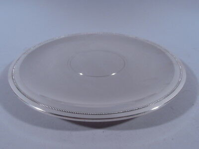 Tiffany Plate - 23672 - Footed Serving Salver Tray - American Sterling Silver