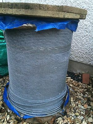 10m meters of 6mm diameter Galvanized Steel Wire Rope Cable (more available)