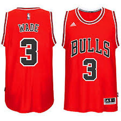 premium selection e93dd a34d5 CHICAGO BULLS YOUTH Dwyane Wade #3 adidas Red New Swingman Road Jersey