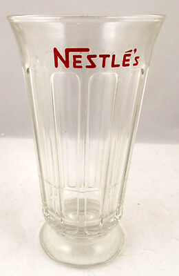 Nestles Syrup Line Soda Fountain Glass