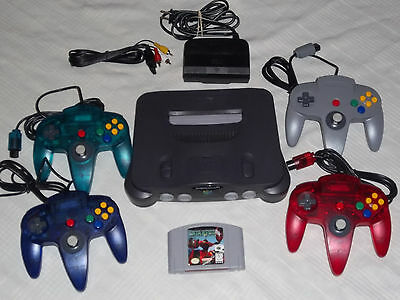 Nintendo 64 N64 System Complete + 4 Controllers + Starfox Game Tested
