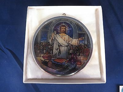 """GLASSMASTERS STAINED GLASS """"Last Supper"""" Ornament - Suncatcher - 9th in Series"""