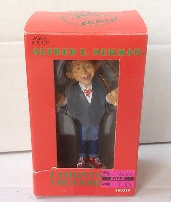 Vintage MAD Magazine Alfred E. Neuman Christmas Tree Ornament In Box