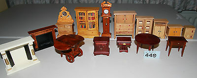 Lot 449 : mixed furniture bundle for 1/12 scale dolls houses