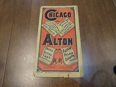 Chicago and Alton Railroad April 1882 Timetable and Map