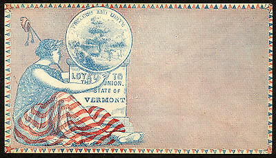 Patriotic Civil War Cover, Loyal to the Union, Vermont