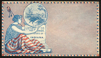 Patriotic Civil War Cover, Loyal to the Union, Indiana
