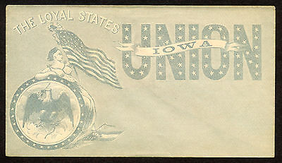Patriotic Civil War Cover, States Loyal to the Union,Iowa