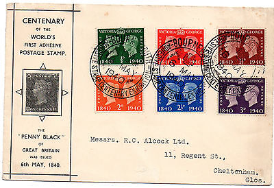 Fdc  May 6 1940 Centenary Of The Penny Black  Bournemouth Exhibition Handstamp T