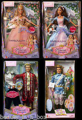 Anneliese Erika Barbie Doll King Dominick Princess and the Pauper Prince Ken 4SW