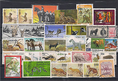 Range of Animal Stamps Used and MNH 2 x Scans
