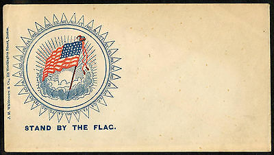 Patriotic Civil War Cover, Stand by the Flag Names of Union States by Whittemore