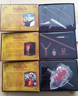 Chronicles of Narnia Master Replicas in 1/6 Scale Set of 3 Great Condition