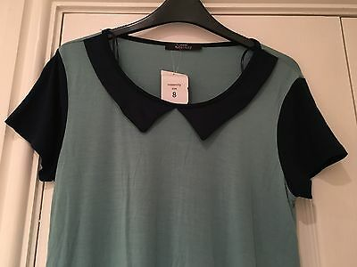 Brand New With Tags Pale Green And Navy Maternity Top Size 8
