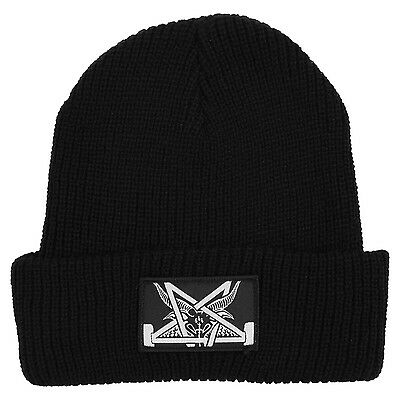 "New with Tags THRASHER Skateboard Magazine ""Skategoat Zoom"" Patch Beanie (Black)"