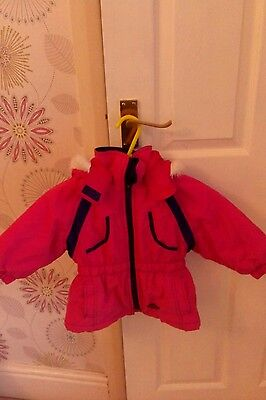 girls pink coat size2/3