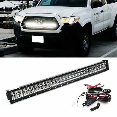 180w 30 Led Light Bar W Behind Grill Bracket Wirings For