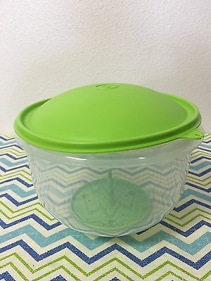 Tupperware Crisp-It Lettuce Keeper Sheer with Green Seal New