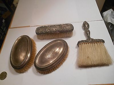Antique Lot Of 4 Sterling Clothes Brushes,2 R. Wallace,1 Gorham