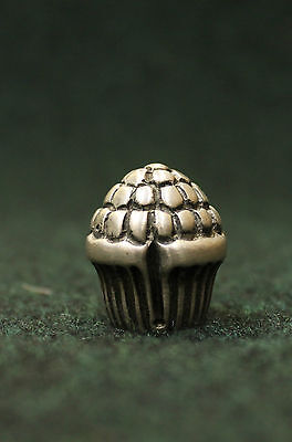 Vintage Sherle Wagner or P.E. Guerin Silver Pull Knob Lamp Finial Organic Berry