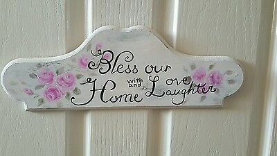 wall sign wall hanging handcrafted hand made bless our home sign
