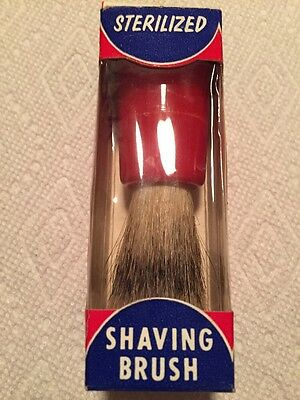 Vintage Shaving Brush Century Red Rocket NIB