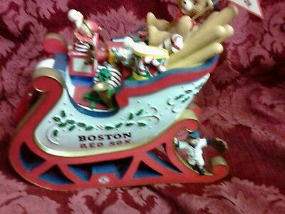 Boston Red Sox Danbury Mint Christmas Collection Sleigh