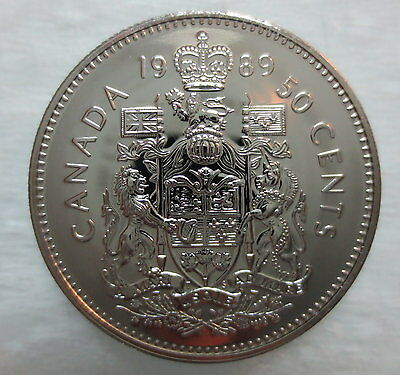 1989 Canada 50 Cents Proof-Like Coin
