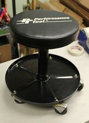 Roll Around Padded Stool w/ Tool Tray Adjustable Height Performance Tool