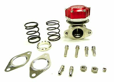 Maximizer Universal RED 40 MM 2Bolt Flange External Compact Waste Gate Wastegate