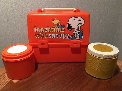 Vintage 1965 Snoopy lunchbox Peanuts Rare w/thermos Original Charles Schulz