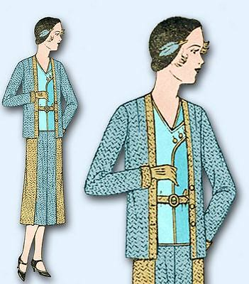 1930s Vintage Mail Order Sewing Pattern 7440 Junior Girls Suit Size 11 29 Bust