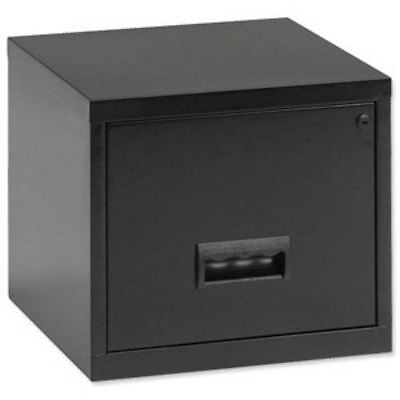 Lockable Metal 1 Drawer A4 Filing Cube Cabinet Free 24Hr Delivery