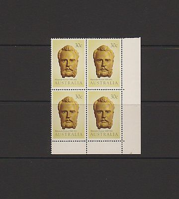 Australian Explorers - Alexander Forrest  issued 1983 - block of 4 stamps MNH