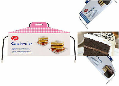 Tala Cake Tortes Leveller Splitting Cutting Slicer Layers Adjustable Wire 25cm