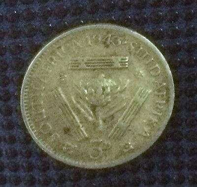 1943 South Africa 3 Pence Silver Coin - Collectable Example