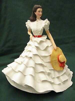 "SCARLETT O'HARA ""Gone With The Wind"" FRANKLIN MINT 1987 10' PORCELAIN FIGURINE"