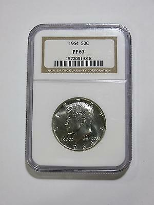 1964 John F Kennedy 50 Cents Ngc Slab Proof Pf Silver Old Us Mint Collection Lot