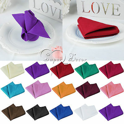 "Many Colors Linen Napkins 12""X12"" Polyester Wedding Party Decor Machine Washable"