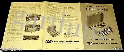 Smith-Corona 1962 Corsair Typewriter Guide & Pictorial Advertising Brochure