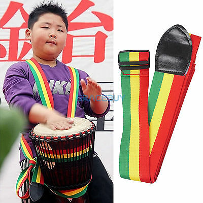 African Hand Drum Strap Cotton Djembe Strap Colorful for Drummer