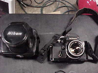 Nikon F2 Black Photomic Dp-1 With Nikkor-S F/1.4 50Mm Lens And Case
