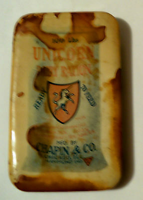 UNICORN DAIRY RATION 1 3/4 x 2 3/4 Advertising MAGNET Chapin & Co Chicago IL