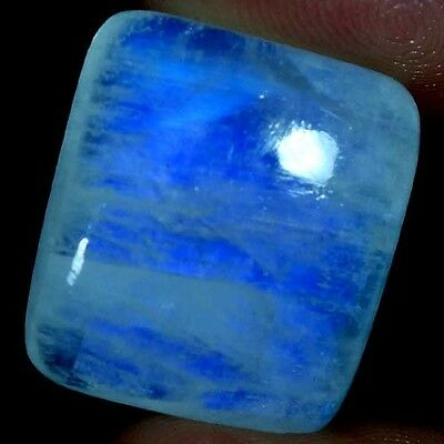 32.50Cts. 100% NATURAL EXCELLENT POWER RAINBOW MOONSTONE CUSHION CAB GEMSTONES