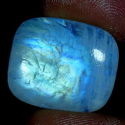 25.30Cts. 100% NATURAL EXCELLENT POWER RAINBOW MOONSTONE CUSHION CAB GEMSTONES