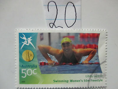 N o -20--2006 COMMONWEALTH  GAMES  -USED  50c  VALUES  ---A1  ORDER