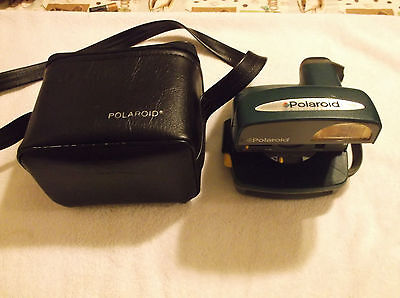 Polaroid One Step Express Green Instant Film Camera With Polaroid Bag Tested